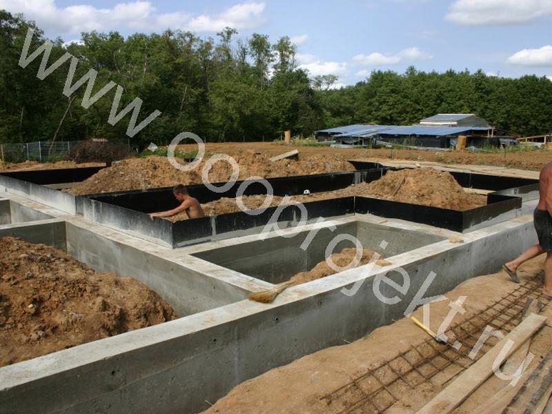 Строительство фундамента под коттедж