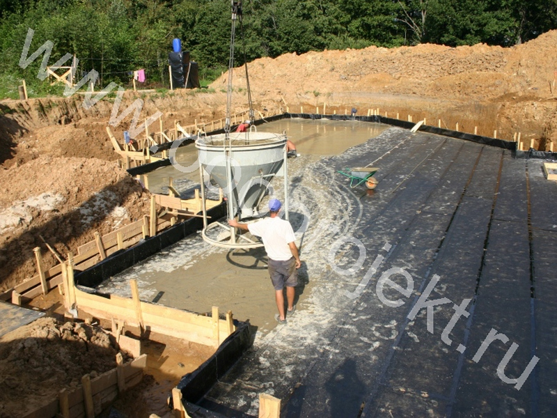 Подготовка основания под фундаментную плиту