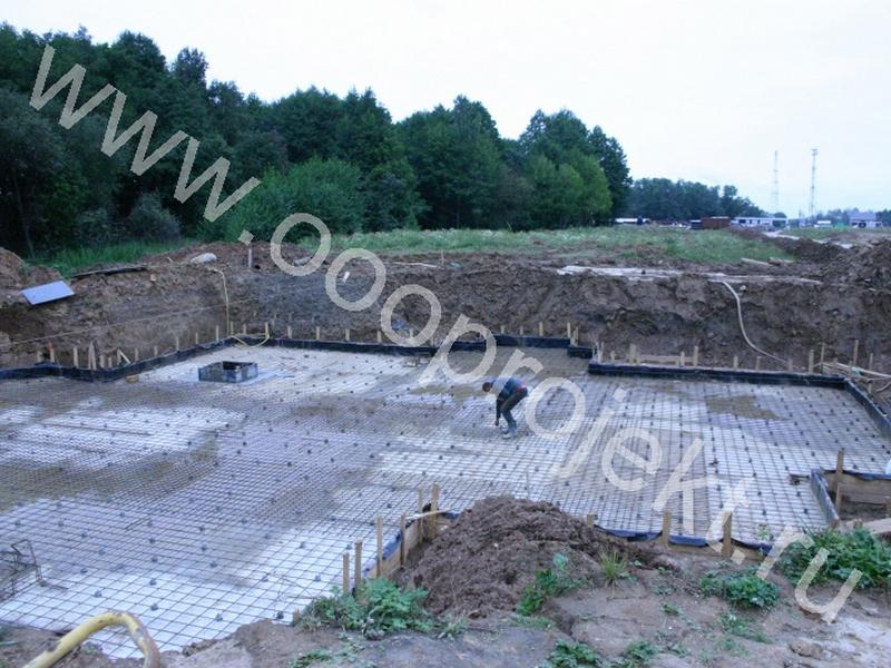 Фундаментная плита с подвалом