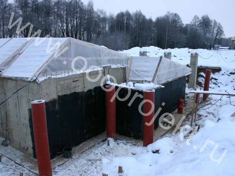 Строительство домов зимой