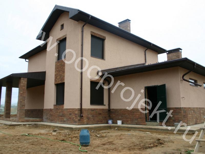Отделка камнем фасада дома