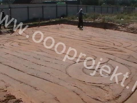 Песчано-ленточный фундамент
