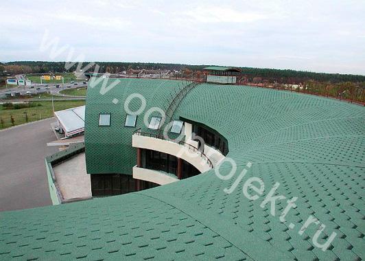Покрытие крыши битумной черепицей